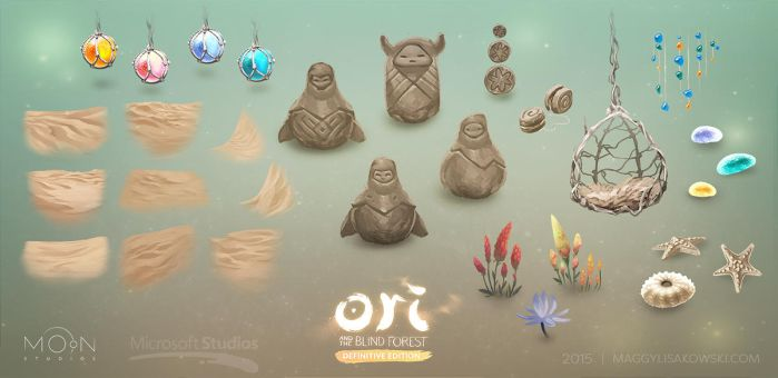 Ori and the Blind Forest DE beach assets by malisaa