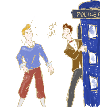 Tintin meets the doctor by pokelady