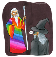 Saruman of many colors XD by Deathlydollies13
