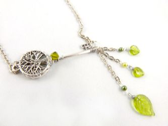 Tree of Life Leaf Key Necklace by angelyques