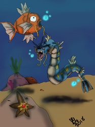 Water Pokemon Colored by Cheeseburger911