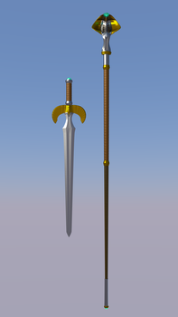 Teela's Ceremonial Sword and Staff - Image 2 by paulrich