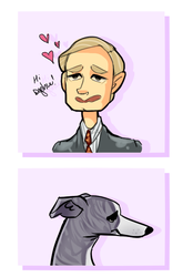 A Man and His Dog by caboosemcgrief