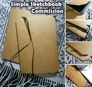 Simple Sketchbook Commissions (OPEN) by Luciana-Lu