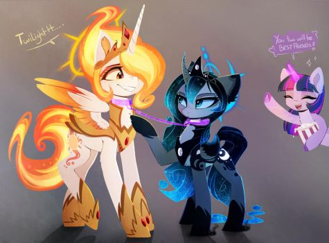super mega best friends by MagnaLuna