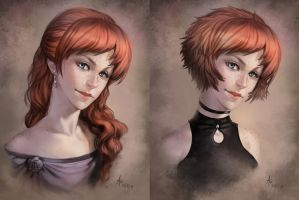 Narelle portrait by AonikaArt