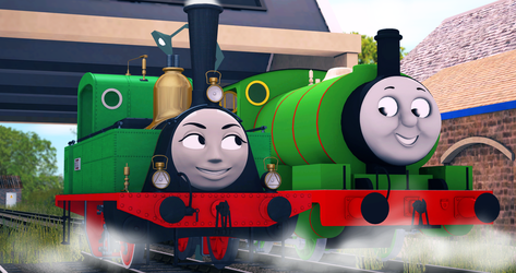 Two Little Green Shunters by Nictrain123