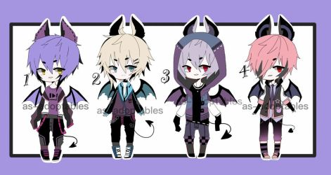 Punk bat boy adoptables CLOSED by AS-Adoptables