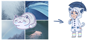 neko atsume aesthetic reveal: rainy day by irlnya