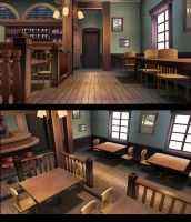 Rabbit House Wind Bar Stage by mmdcollection