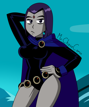 A Little Raven Drawing by MrChaseComix