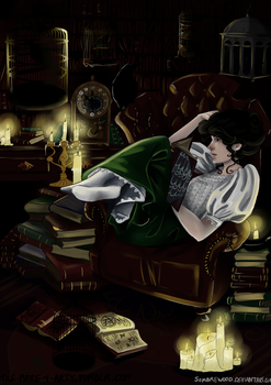 The Night Circus : Celia's Library by Sombrewood