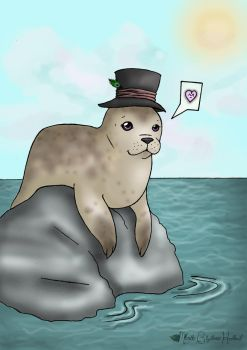 Seal with a Hat by soaringnurii