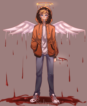 Kenny the Fallen Angel by pooderpoo