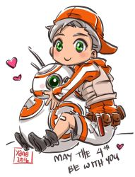 Chibi BB-8+ Star Wars Force Awakens by xanseviera