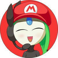 [100 Watchers special] Meloetta /w Mario Hat by DarkyBenji