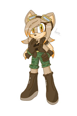 Amber the hedgehog by city-galaxies