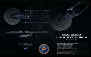 Excelsior class ortho - USS Excelsior by unusualsuspex