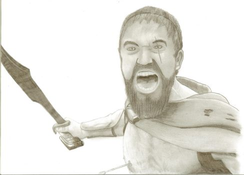 300 - Leonidas Wounded by Eurasian17