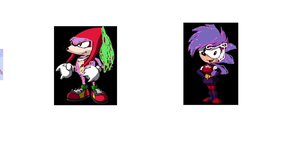 Knuckles as Spike and Sonia as Rarity by finlaythetinytoonfan