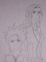 Toshiro and Rangiku by AnimeFanatic14