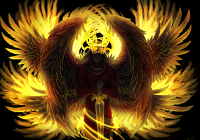 Burning Seraph by drawitout