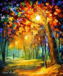 Walk Down The Alley by Leonid Afremov by Leonidafremov