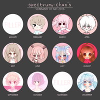 2016 Art Summary by spectrum-chan