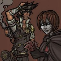 The Mercenary and the Merchant by CyborgNecromancer