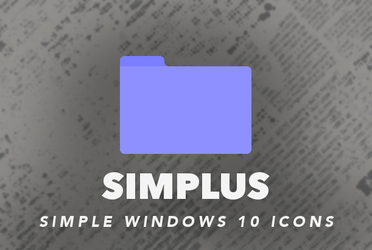 Simplus | Windows 10 Simple Folder Icons! by Devonix