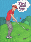 Golf Time Fore Tee by DarkRubyMoon