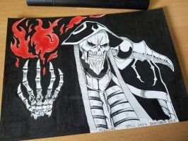 Inktober 2018 - Day 4 Spell (Ainz Ooal Gown) by Yokitho