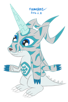 [Request] Ice Gabumon by FlameRat-YehLon