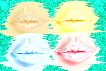 Lips Abstract by DeathZo