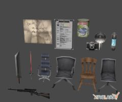 Crisis Core - Object Pack 1 by xHolyxLightx