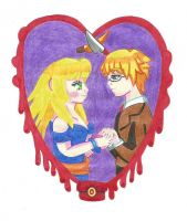 Alice and Riba Heart Chaiming by MicaRaygun