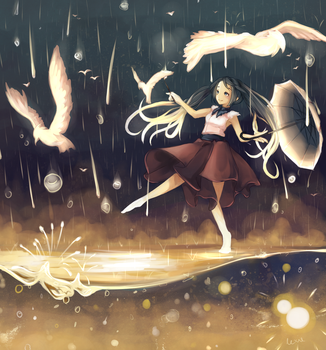 Painting with the Rain by Rejuvenesce