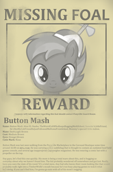 Missing Foal Report - Button Mash by PerfectBlue97