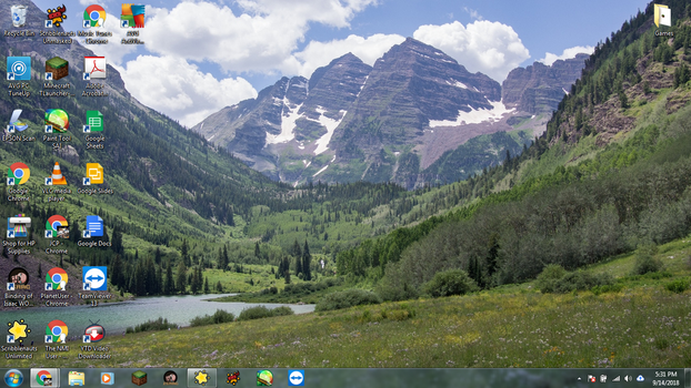 Windows 7 Desktop: Maroon Bells, Colorado by jcpag2010