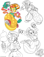 Lola Pop doodles by treespeakart