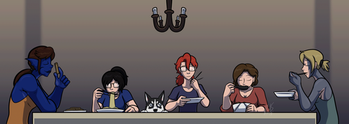 Dinner at the Dorm by AraghenXD
