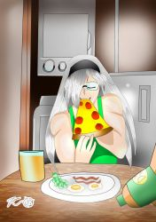 Miora eating Breakfast! by Zecrus-chan