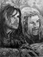 The Hobbit: Kili and Fili by shuckaby