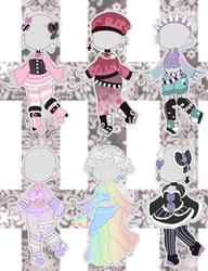 Pastel Outfit Adopts (closed) by Horror-Star