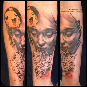 Alternative Japanese style half sleeve in progress by tikos