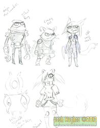 Ninjaclansketches by AtomicTerrier