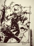 NieR Automata - 2B (Traditional) by 7Repose
