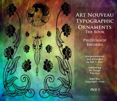Page 6 Art Nouveau Typographic Ornaments by AllThingsPrecious