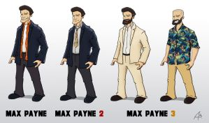 The Evolution of Max Payne by jackoozy