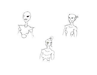 Day 17 Robot + Day 18 Alien + Day 19 Cyclops by greensam